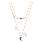 SWAROVSKI Glowing Moon black necklace 5273290