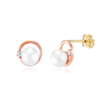 J&B Jewelry circle cubic pearl earring