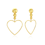 VINTAGE HOLLYWOOD Glam Ball Heart Drop Earring