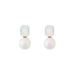 GET ME BLING White Pure Ball Earrings